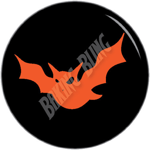 Halloween BAT Black Orange Cake Toppers