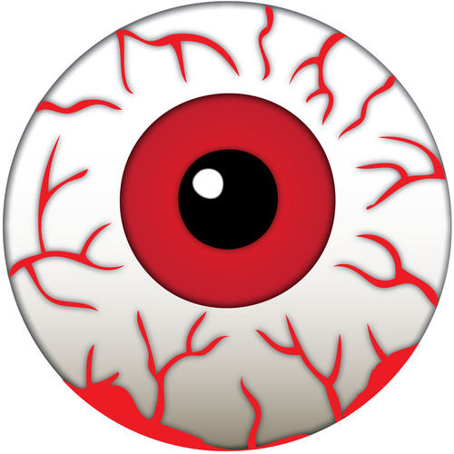 Halloween BLOODY RED EYEBALLS Cake Toppers