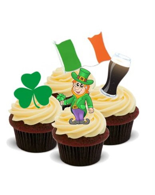 AROUND THE WORLD! IRELAND  - Standups 12 Edible Standup Premium Wafer Cake Toppers