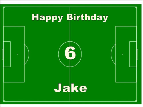 PERSONALISED FOOTBALL  PITCH BIRTHDAY  A4  Icing Cake Topper