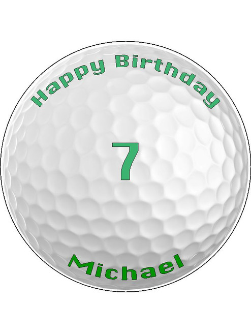 Prime Personalised Golf Ball Birthday 7 5 Icing Cake Topper Just Personalised Birthday Cards Arneslily Jamesorg