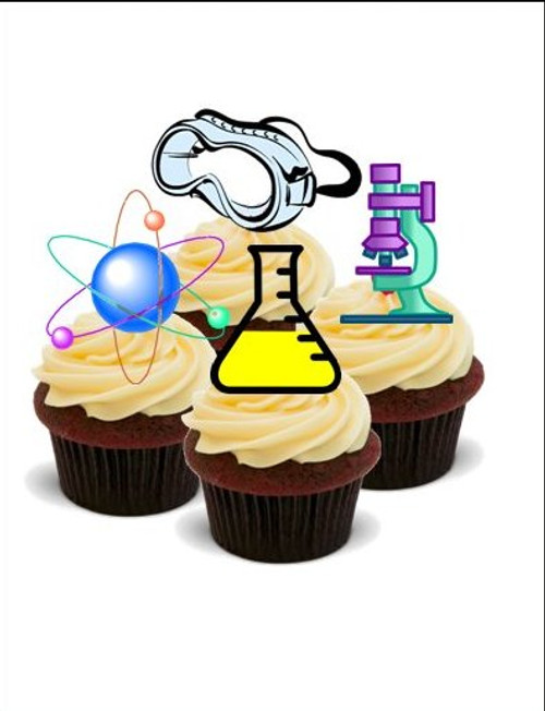 SCIENCE MIX -   Standups 12 Edible Standup Premium Wafer Cake Toppers
