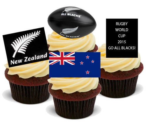 NOVELTY RUGBY WORLD CUP ENGLAND ENGLISH MIX 12 STAND UP Edible Cake Toppers