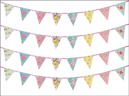 VINTAGE BUNTING ON ICING Print Patterned Icing Sheet Cake Topper