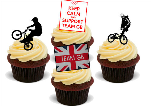 Cycling BMX Mix Stand Up Premium Card Cake Toppers