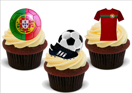 12 Novelty EURO 2016 ICELAND Football Edible Cupcake Cake Toppers Decorations