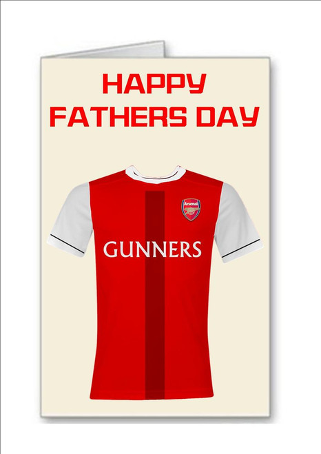 Happy Fathers Day Arsenal Gunners Football Fan Greeting Card - A5 White Greeting Card & Envelope