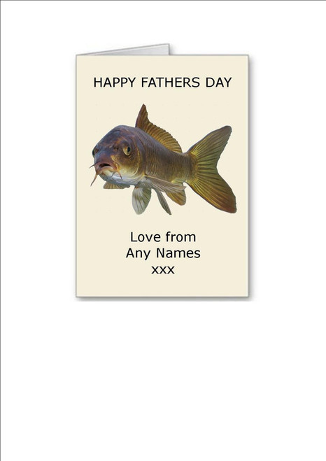 Happy Fathers Day  Coy Carp Personalised Greeting Card - A5 White Greeting Card & Envelope