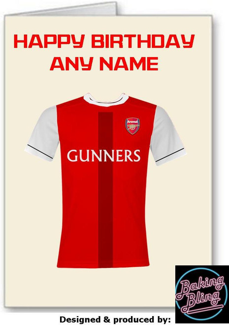 Happy  Birthday Arsenal Gunners Personalised Greeting Card - A5 White Greeting Card & Envelope