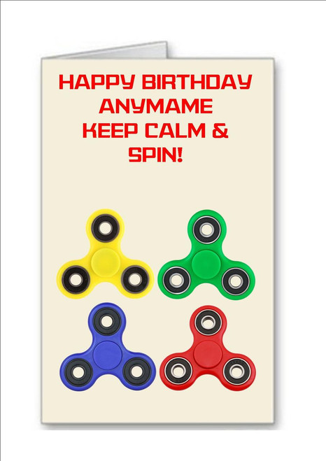 Keep Calm And Party On Personalised Birthday Greetings Card