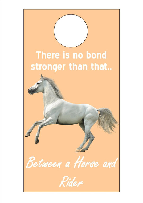 Grey Warm Blood Horse - There is no bond stronger than that between a horse and a rider  300gsm Card 20cm x 9.5cm