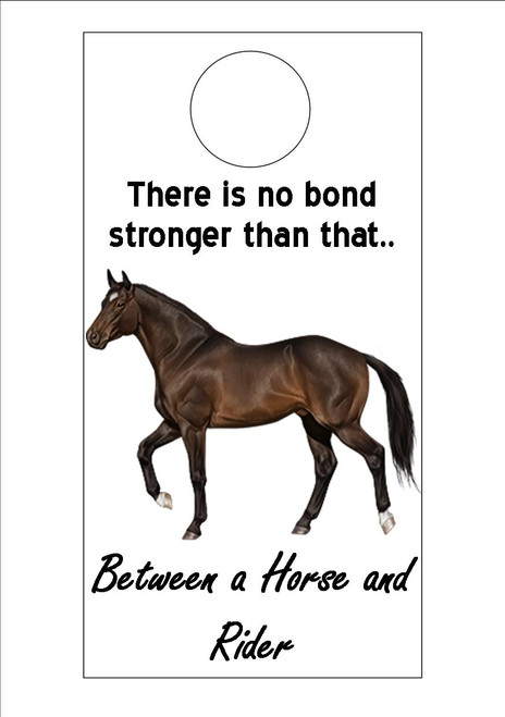 American Quarter Horse - There is no bond stronger than that between a horse and a rider  300gsm Card 20cm x 9.5cm