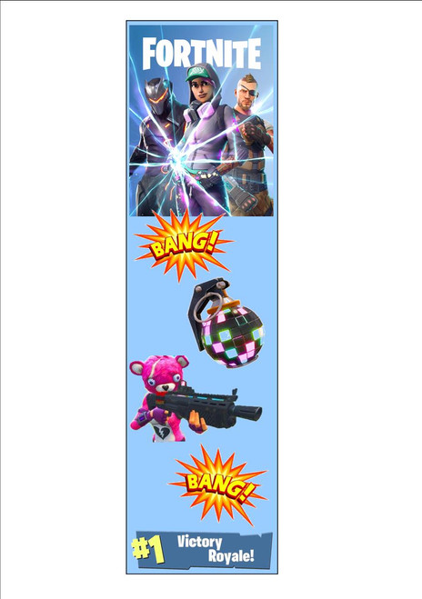 Fortnite Bookmark Battle Royale Victory White 300gsm Card 20cm x 9.5cm