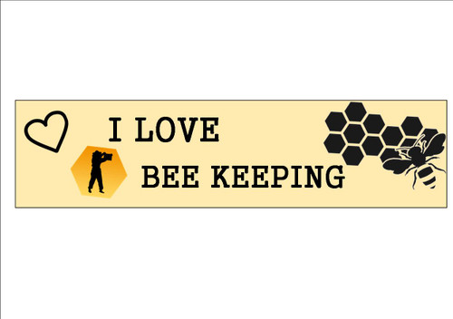 6 Pack    I LOVE BEE KEEPING  - Bookmark  White 300gsm Card 20cm x 9.5cm