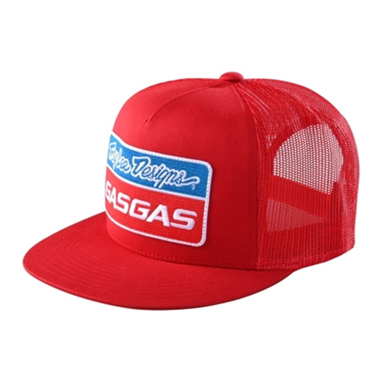 Troy Lee Designs TLD Gasgas Team Snapback Stock Hat - Red