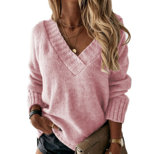 KNITTED OVERSIZED JUMPER PINK