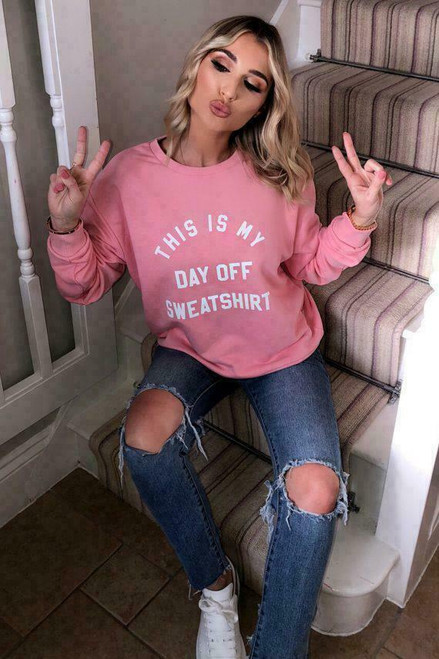 DAY OFF SWEATER PINK