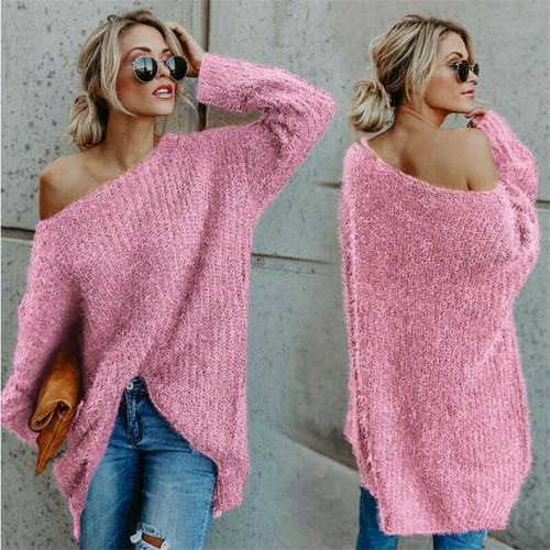 OVERSIZED FLUFFY TOP PINK