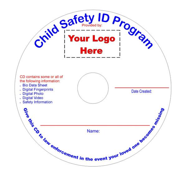 EZ Child ID Printed CDs 100pk