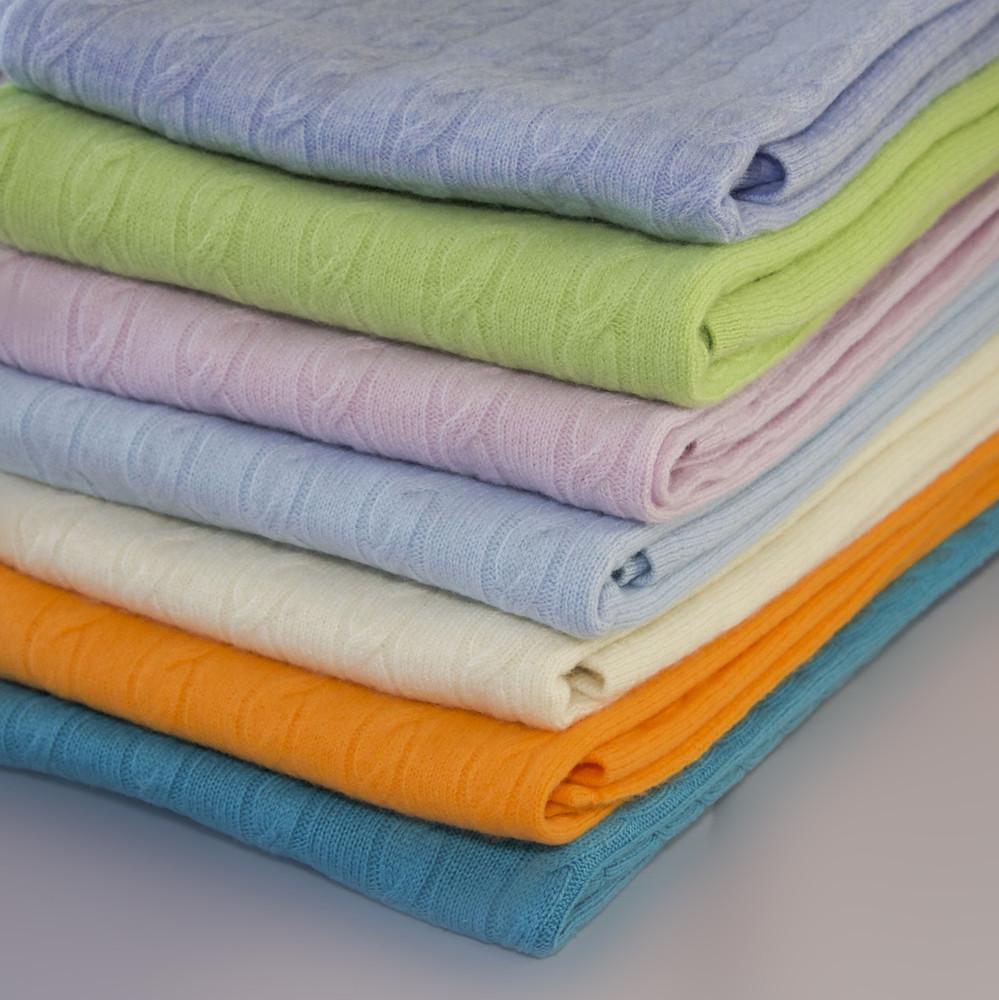 Dangelo Cashmere Sky Blue Baby Blanket