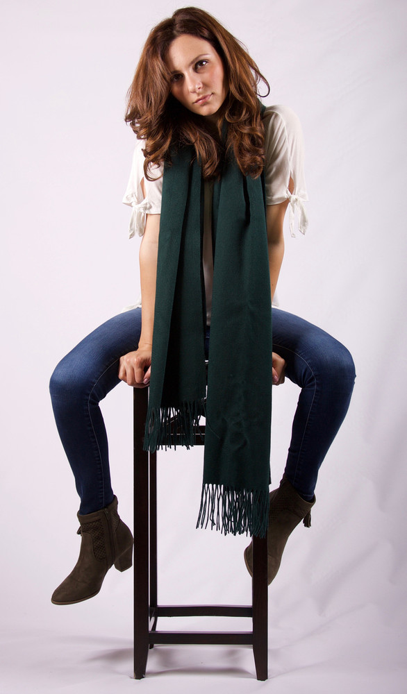 Aziza Cashmere & Lambswool Blend Wrap