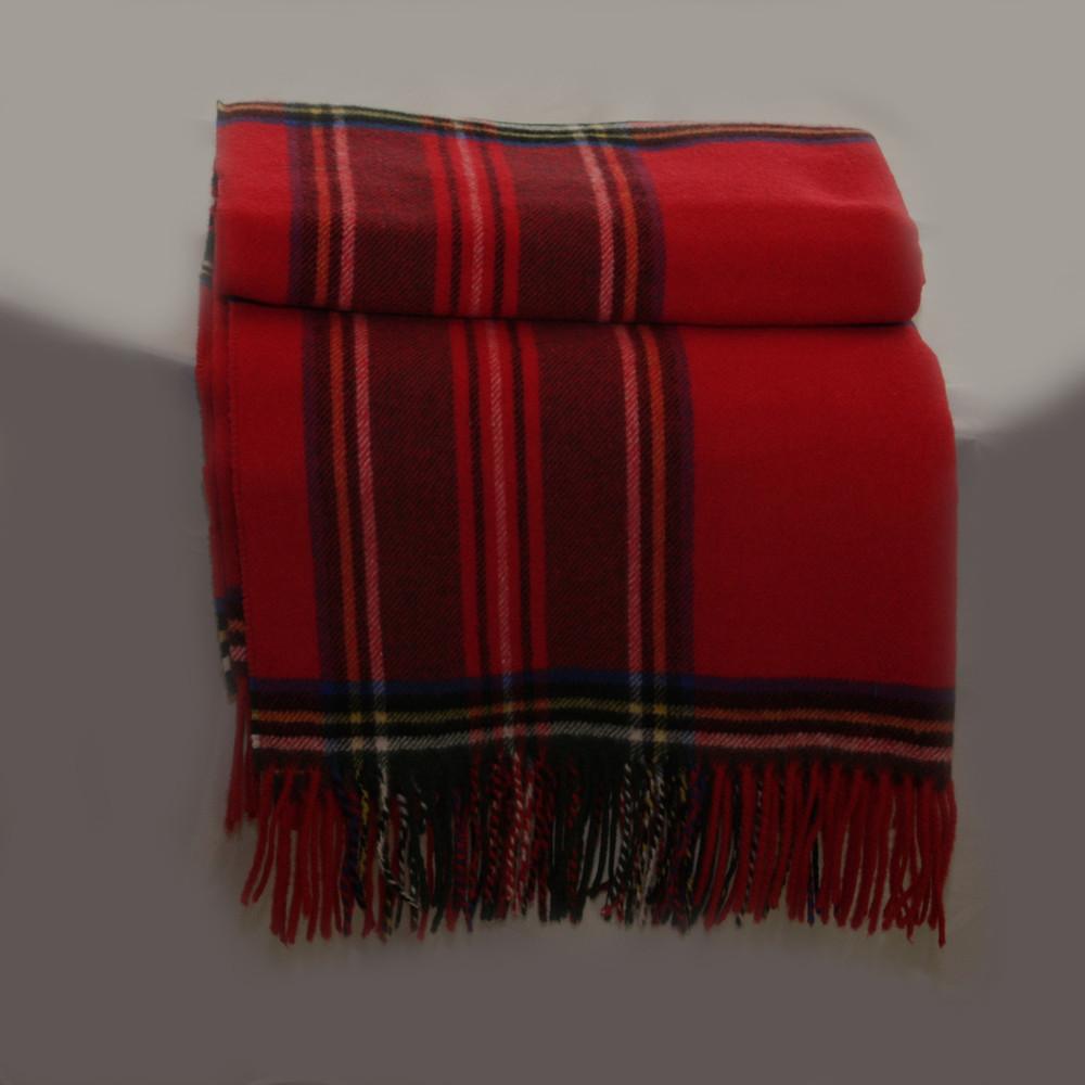 Tuba  Boxed Cotton/Cashmere Blend Tartan Throw