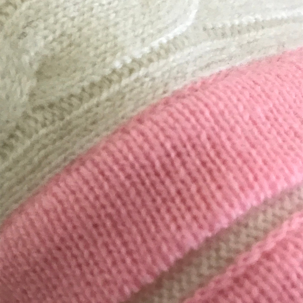 Ava Cashmere Cream / Candy Pink Baby Blanket