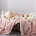 Angelica Cashmere Pale Rose Baby Blanket