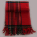 Olivia Boxed Cashmere Tartan Throw