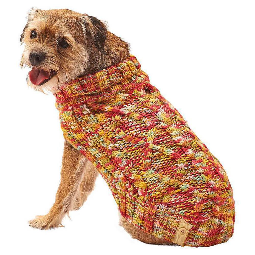 Fashion Pet Lookin\u0027 Good Multi,Crochet Dog Sweater