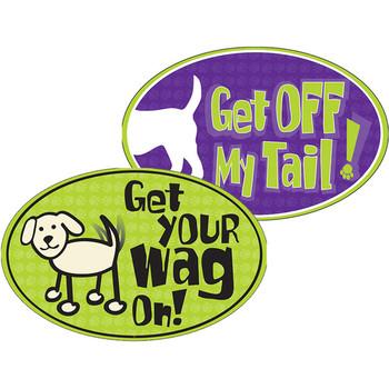 Dog Speak Oval Outdoor Magnets
