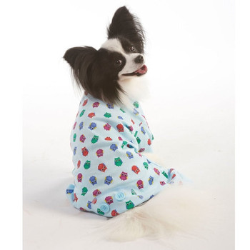 Blue Owl Print Pajamas