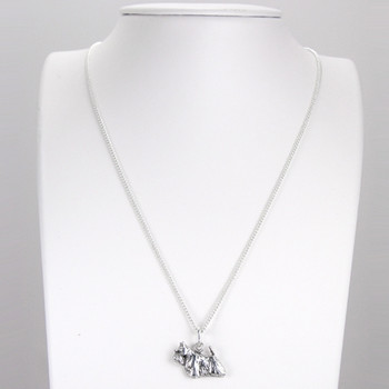 Fine Arf Sterling Silver Necklace with Goldilocks Dog Charm