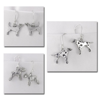 Fine Arf Dog Breed Earrings