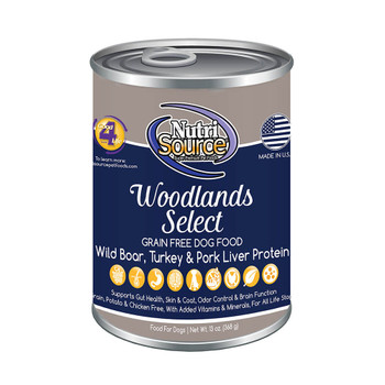 Nutrisource Grain Free Woodlands Selects Canned Recipe for Dogs