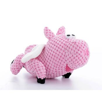 GoDog Checkers Flying Pig Dog Toy