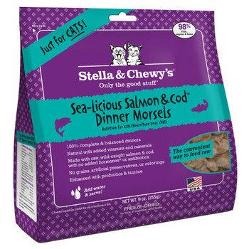 Stella and Chewy Freeze Dried Sea-Licious Salmon and Cod Cat Dinner