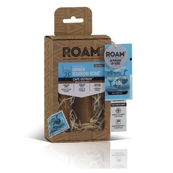 ROAM Smoked Marrow Ostrich Bone Small 2 Pack