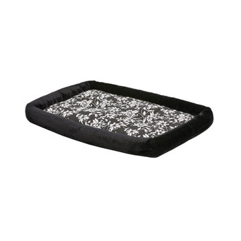 MidWest QuietTime Couture Sofia Bolster Crate Bed - Black