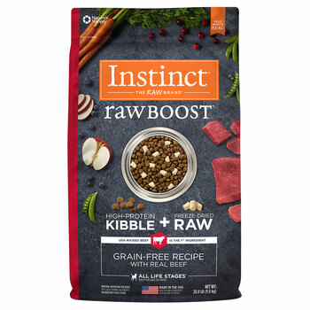 Natures Variety Instinct RAW BOOST Grain-Free Beef Kibble for Dogs