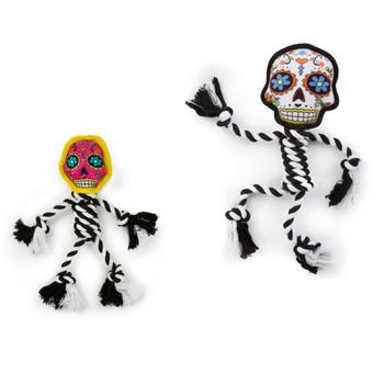 GoDog Sugar Skulls ROPE  Dog Toy