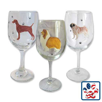 Dog Breed Wine Glasses