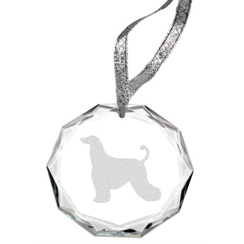 Cherrybrook Laser Engraved Round Facet Crystal Ornament