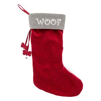 HuggleHounds Christmas Woof Stocking