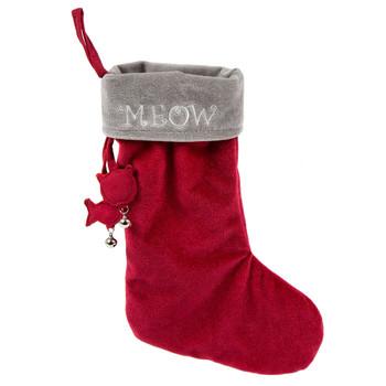 HuggleHounds Christmas Meow Stocking