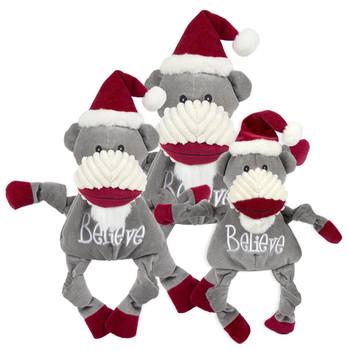 HuggleHounds Christmas Sock Monkey
