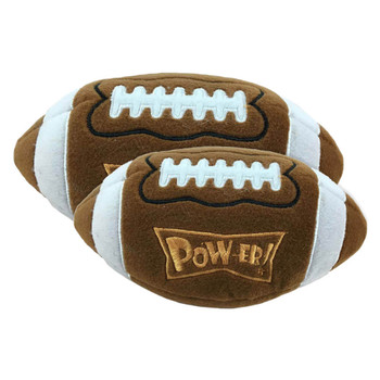 Lulubelle's Power Plush Pigskin Dog Toy