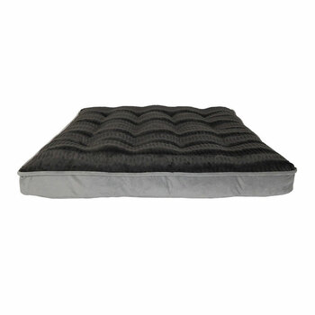 Arlee Bella Orthopedic Mattress Faux Fur Top in Silver