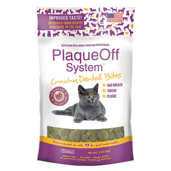 ProDen PlaqueOff System Crunchy Dental Bites for Cats 3oz