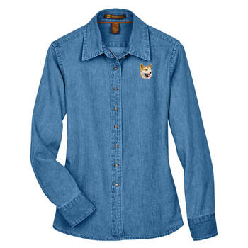 BirdDawg Embroidered Ladies Denim Shirts